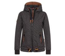 Jacket 'Gleitgelzeit' braun / schwarz