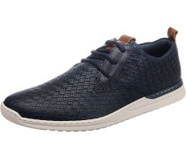 Sneaker mit Flechtoptik navy / braun