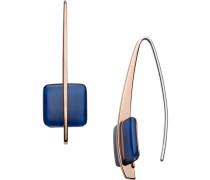 Ohrhänger blau / rosegold