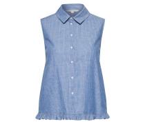 Bluse blue denim / weiß
