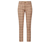 Hose 'Lovely Poly Check' braun