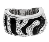 Fingerring Ubr71201 schwarz / silber