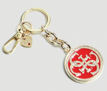 Schlüsselanhänger 'Charm' gold / rot