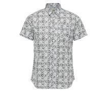 Kurzarmhemd schwarz / weiß