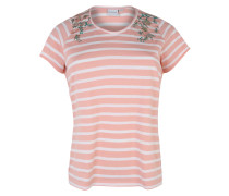 T-Shirt 'halla' altrosa / perlweiß