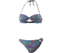 Bandeau Bikini blau / lila / rot