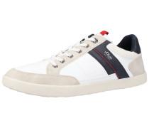 Sneaker camel / navy / rot / weiß