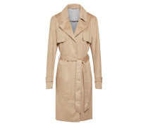 Mantel 'Fake Suede Trench' sand