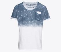 T-Shirt 'MT Faith round' blau / weiß