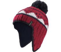 Mütze rot / schwarz / weiß