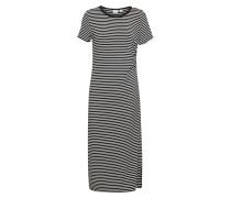 Jerseykleid 'Ruched' schwarz / naturweiß