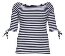 Carmenshirt blau / weiß