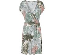 Jerseykleid 'Laya' beige / grün / rosa