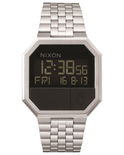 Armbanduhr 'Re-Run' schwarz / silber