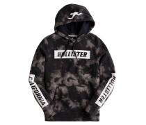 Sweatshirt grau / schwarz / weiß