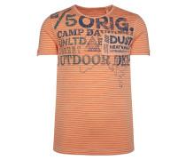 Streifenshirt mit Vintage Print und Patch