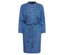 Kleid 'LS Popover Shrtdrs MED Wash' blue denim