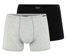 Shorts graumeliert / schwarz