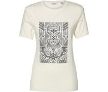 T-Shirt 'LW Valley Trail' hellgrau / weiß