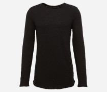 Shirt 'yarndyedslub LS' schwarz