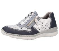 Sneaker kobaltblau / silber / weiß