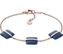 Armband blau / rosegold