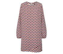 Kleid 'trudy' hellblau / rot / weiß