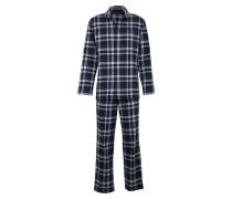 Pyjama nachtblau / naturweiß