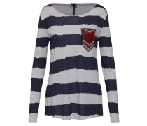 Shirt 'jenny' navy / grau