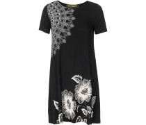 Jerseykleid schwarz / weiß