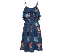 Kleid 'Flora' blau / hellblau / rot