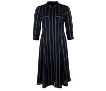 Blusenkleid schwarz / weiß