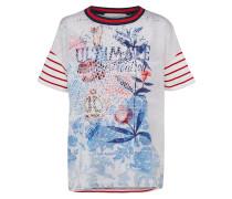 T -Shirt mischfarben / weiß