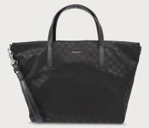 Handtasche 'Nylon Cornflower Helena' schwarz