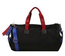 Duffle Bag blau / feuerrot / schwarz