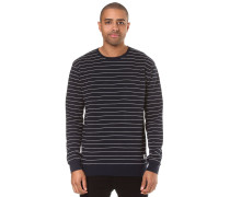 Interstripe Sweatshirt navy / weiß