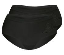 Panty 'classic Look' 2er Pack schwarz