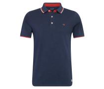 Poloshirt navy / rot / weiß