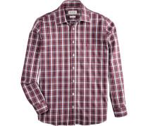 Trachtenhemd im Karodesign blau / rot