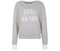 Sweatshirt 'city OF NY' graumeliert