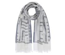Schal dunkelgrau / weiß
