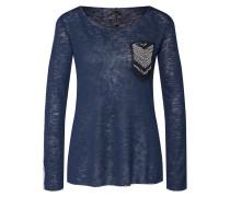 Shirt dunkelblau / silber