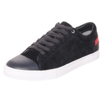 Sneaker mit Materialmix dunkelblau