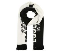 Schal 'Ringading' schwarz / weiß