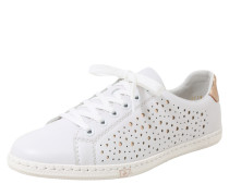 Sneaker mit Metallicdetails weiß