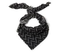Schal graumeliert / schwarz