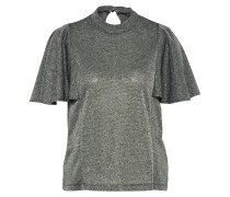 Shirt 'glitter Volant' silber