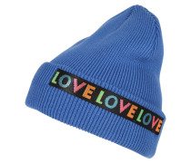 Beanie 'Love Turn' blau