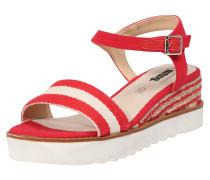 Sandale 'rosa' rot / offwhite