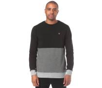 'Threezy Crew' Sweatshirt grau / schwarz